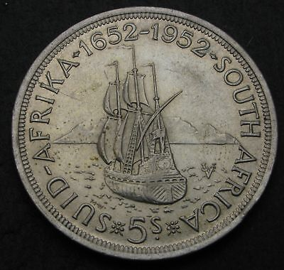 SOUTH AFRICA 5 Shillings ND(1952) - Silver - George VI. - Capetown - 1885