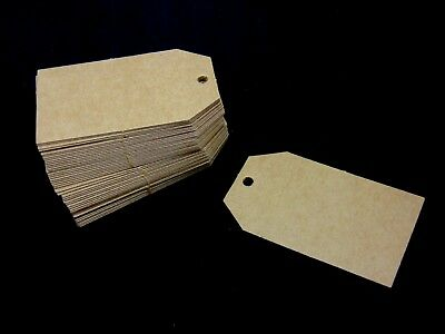 50 Pcs - ECO KRAFT Blank Paper Gift TAGS Card Label Wedding Luggage UK N37