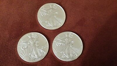 They're here! Lot of 3 Coins - 2019 American Silver Eagle $1 BU Coins