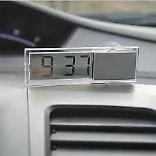 Car Suction cup Electronic Digital Clock For Center Console Front Windshield Mot