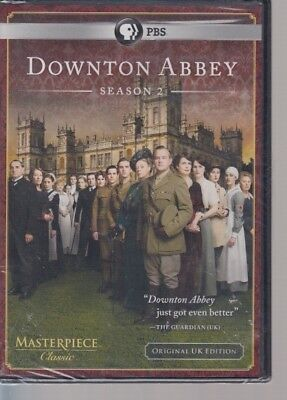 PBS Masterpiece  Season 2  Downton Abbey  New Sealed DVD