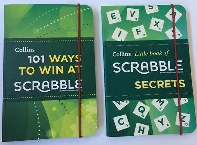 New Collins Scrabble Secrets & How To Win At Scrabble RRP £6.99 Each!