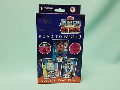 Topps Match Attax Champions League Road to Madrid 19  Deck Box 4 / 4 Update Set