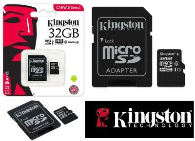 Kingston Micro SD SDHC memory Card Class 10 32GB Memory with SD Adapter 80 MB/S