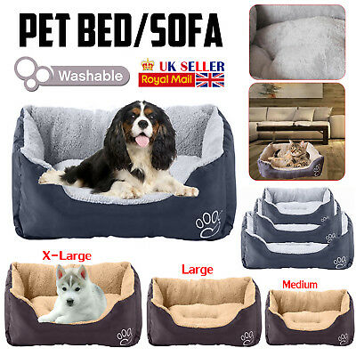 Waterproof Dog Cat Puppy Bed Soft Travel Playpen Washable Pet Basket Mat Cushion