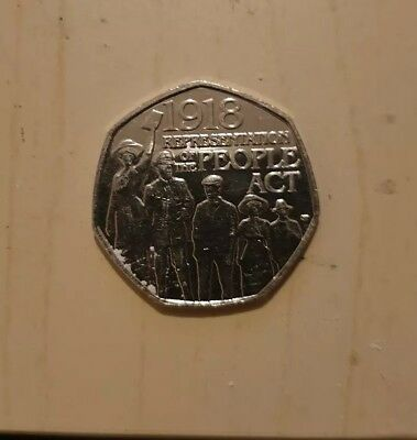 Representation Of The People Act 1918...50p Fifty Pence coin 2018