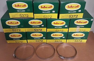 "Lot of 110 Ideal 5372 Stainless Steel Hose Clamps | Range 4-1/6"" to 5"" 