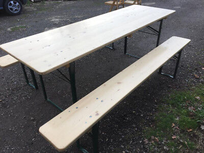 Authentic German Beer Table set. 70cm wide table top