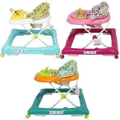 Baby Walker Musical Electronic Play Tray Adjustable Height Entertainer