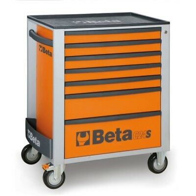 Beta Tools Special! Italy C24S Rollcab Orange 7 Drawer Toolbox Roller Cabinet