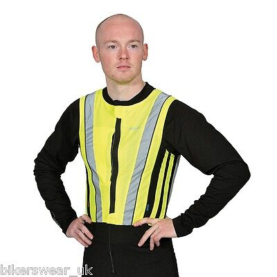 Oxford Bright Top Active Reflective Hi-Vis Jacket Waistcoat Motorcycle