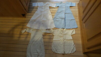 4 Antique Vintage BABY GOWNS Nightgown, Infant, Cotton, Long