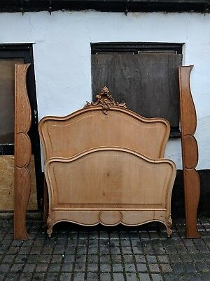 Beaitful Carved Antique French Louis XV Style Bed
