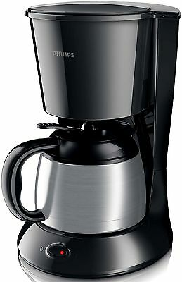 Philips HD 7472 20 Kaffeemaschine Daily Thermoskanne 1000W 0,9L Edelstahl Black