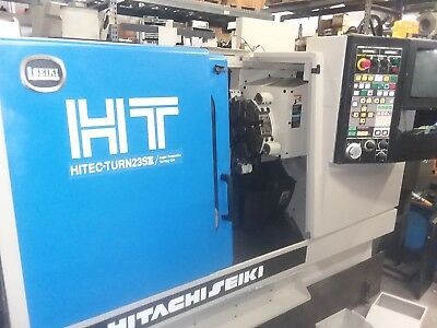 "USED HITACHI SEIKI HT-23SIl 10"" chuck machine.  20h.p two speed headstock Nice!"