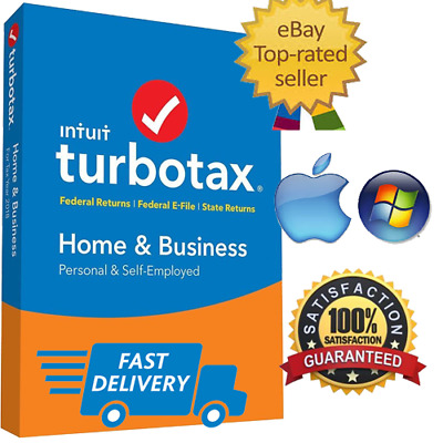 🔥TurboTax Home and Business 2018 Federal 🔥win mac🔥+ State📥Instant Delivery📥
