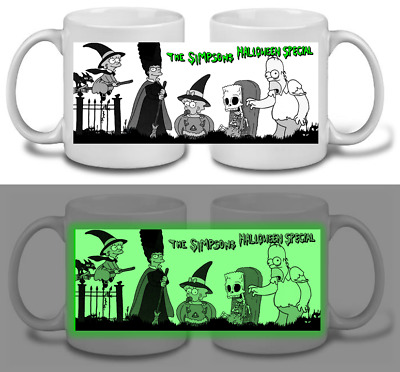 THE SIMPSONS halloween GLOW-IN-THE-DARK  MUG, limited RARE NEW