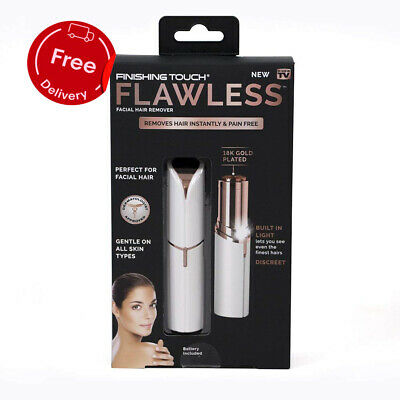 JML Flawless Finishing Touch Facial Hair Remover Epilator Hair Trimmer 18k Gold