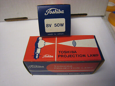 2 Toshiba Projector Lamp Bulbs 8V 50W CXL/CXR New in Box  from full case RARE