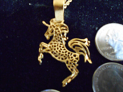 bling gold plated unicorn MYTH celtic LEGEND GOTH pendant charm necklace JEWELRY