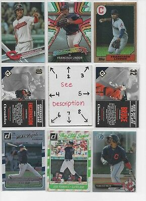 Cleveland Indians LOT#1 - AUTOS - Jerseys - ROOKIES - SERIAL #'D - FREE COMB S/H
