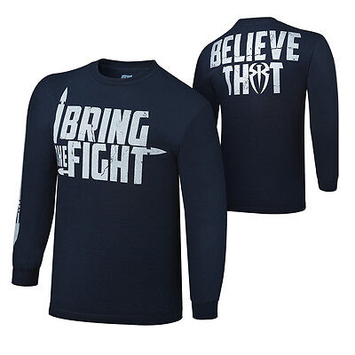 Wwe Roman Reigns I Bring The Fight Youth Long Sleeve T-Shirt Kids Official New