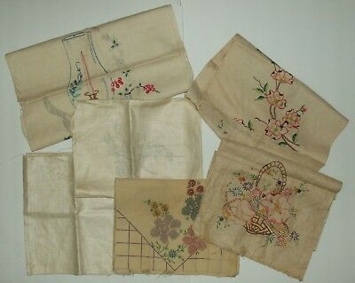 Lot of Vintage Vogue Art Stamped Fabric for Cross Stitch Embroidery