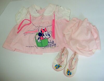 Vintage CATTON CANDY Pink Baby Outfit Walt Disney Minnie Mouse
