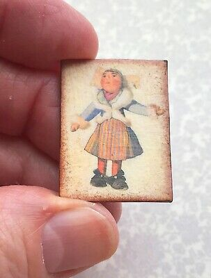 Miniature Dollhouse German carved hand SIGNS dolls antique wood 1:12 wooden