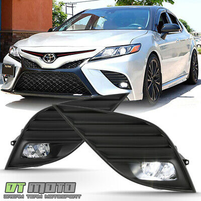 For 2018-2019 Toyota Camry Hybrid SE XSE LED Bumper Fog Lights Lamps w/ Switch