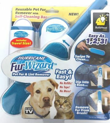 Fur Wizard Pet Fur and Lint Remover Reusable by Hurricane - As Seen on TV