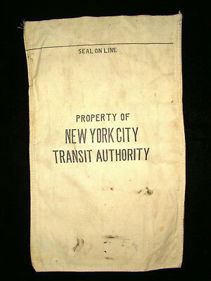 Vintage Bank Coin Bus Subway Token Bag - NYC New York City Transit Authority