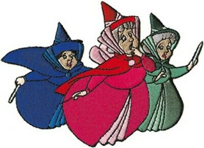 Walt Disney's Sleeping Beauty Fairy Godmothers Embroidered Patch NEW UNUSED