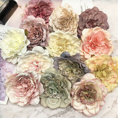 Artificial Fake Silk Peony Flower Heads Party Home Decoration Gifts 19 Colors