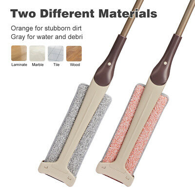 Microfiber Flat Mop Cleaning Pad Floor Dust Wet Dry Clean 2 Sided Head Tools USA