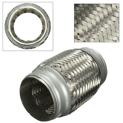 """2.5/""""X 4.25/"""" STAINLESS STEEL DOUBLE BRAIDED 6/"""" FLEX PIPE CONNECTOR//ADAPTOR PIPING"""