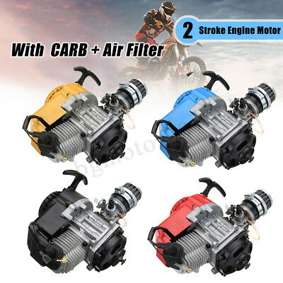 49cc 2 Stroke Engine Motor Air Filter Carburetor Pocket Bike Mini Dirt ATV