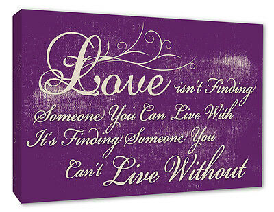 Valentines Gift Wall Picture Love Quote Purple Wall Decor Canvas Prints A1+ 254