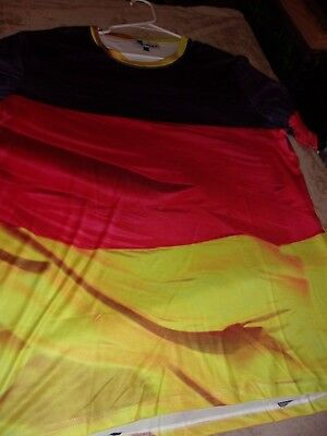 Germany,German Flag Color T-Shirt,. Sz.M. Light Weight.Black,Red,Gold.