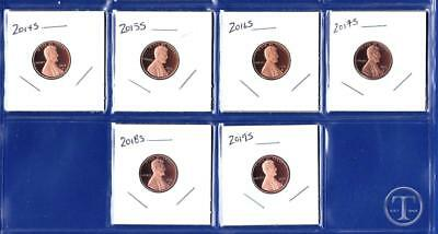 2014 S - 2019 S Proof Lincoln Cents Penny-Gem Proof-Six Proof Pennies