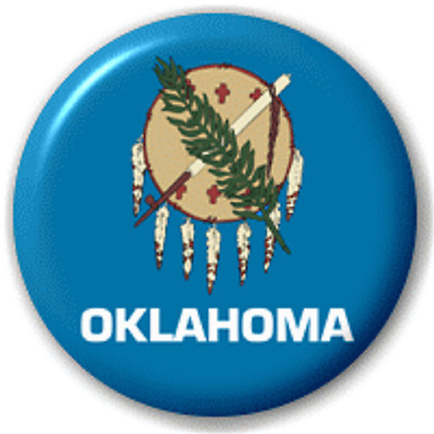 Oklahoma Us State – 25 Mm Pin Button Badge