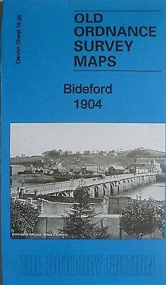 Old Ordnance Survey Detailed Maps  Bideford Devon  1904 Godfrey Edition New