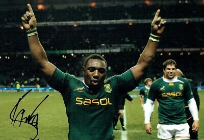 Tendai MTAWARIRA The Beast Signed Autograph Photo AFTAL COA  South African RUGBY