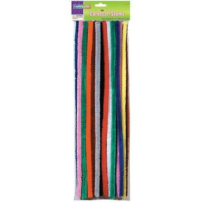 "Colossal Stems 15mmx19.5"" 50/pkg-assorted Colors"