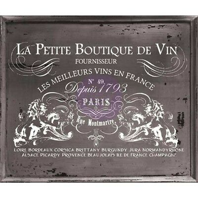 "Iron Orchid Designs Decor Transfer Rub-ons-petit Vin Wide, 37""x25.2"""