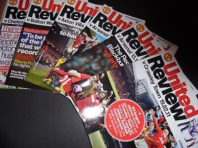 2010/11 Man Utd Home Programmes Choose From (Manchester United)