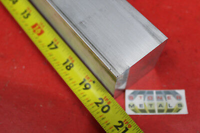 "2"" X 2"" ALUMINUM 6061 SQUARE FLAT BAR 20"" long Solid T6511 New Mill Stock"