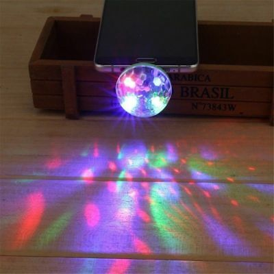 Mini USB LED Mushroom Light For Car Party Change Color Music Disco Ball Stage