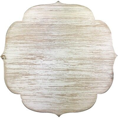 "Cake Stand Small Wood W/galvinized Edge 9.4""x9.4""x5.4""h-white"