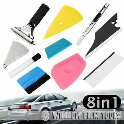 8 Pcs Plastic Felt Edge Squeegee Car Vinyl Wrap Application Tool Scraper Decal